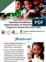 SBFP Orientation 2017-2022