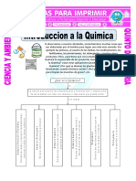 Ficha Introduccion a La Quimica Para Quinto de Primaria