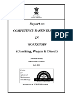 Report on Competency Based Training in Workshops