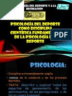 1. Psicologia Aplicada Al Deporte y a La Recreacion Clase 1
