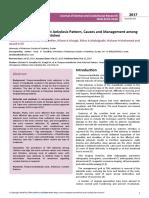 Temporomandibular Joint Ankylosis Pattern Causes and Management Amonga Sample of Sudanese Children