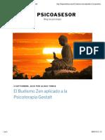 El Budismo Zen Aplicado a La Psicoterapia Gestalt
