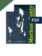 Dialogo Ponty e Existência e temporalidade- O diálogo entre Merleau - Ponty e Heidegger