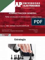 Semana 1-Introducción a La Administración y Enfoque Clásico.2018-1