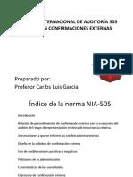 NIA 505 Confirmaciones Externas Guia Del Estudiante