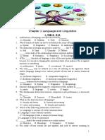 Chp 1 Language and Linguistics