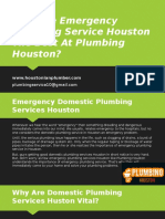 Why Are Emergency Plumbing Service Houston The Best At Plumbing Houston?