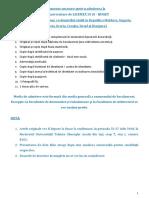 Documente necesare pentru admiterea la studii universitare de LICENŢĂ 2018 - BUGET (Români de pretutindeni, cu domiciliul stabil în Republica Moldova, Ungaria, Bulgaria,  Grecia, Croația, Israel şi Diaspora)
