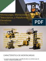 Montacargas, Manipuladores Telescópicos, y Plataformas Elevadoras