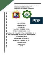 Calculo Del Volumen de Madera Total Del Bosque Una. Dianadocx