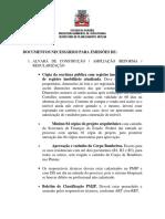 Documentos Alvaras e Licencas1