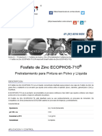 Fosfato de Zinc _ Ficha Técnica