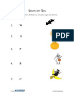 Activity Sheet   PreK-K   Halloween Letter Match