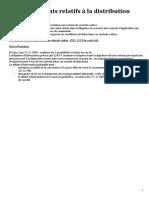 FICHES Contrats_spéciaux_Contrat de Distribution