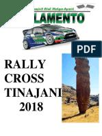 Reglamento Rally Tinajani 2018
