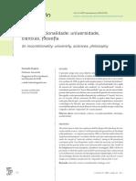 Da Incondicionalidade Universidade Ciencias Filosofia - Fernando Fragozo - Revista Em Construçao - Artigo