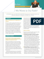 Why Do We Waver in Our Faith