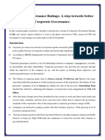 Corporate Governance Ratings