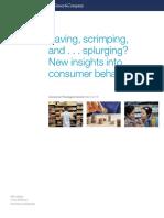 Saving Scrimping and Splurging New Insights Into Consumer Behavior