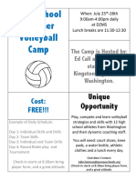 kingston high ed call camp in juno 2018 flyer