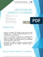 Aplicacion Del Trabajo y La Energia