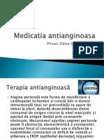 Medicatia antianginoasa