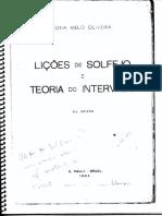 Licoes de Solfejo e Teoria Do Intervalo