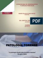 PATOLOGÍA FORENSE