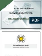 QUALITYASVALUE-ADDINGMANAGEMENTCONCEPT-IKEASupplierQualityAssurance (1).docx