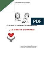 Projet La Greffe d'Organes
