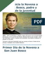 Hoy Se Inicia La Novena a San Juan Bosco