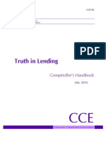 Truth in Lending 2010 Comptrollers Handbook