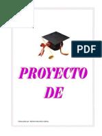 Ejemplo de Proyecto de Vida