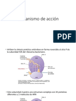 Mecanismo de Acción Macrolidos