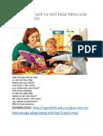 [Giáo Viên] Từ Mới Và Ngữ Pháp Tiếng Anh Lớp 5 Sách Mới