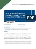 Practicas de Ensenanza Universitaria en Ciencias de La Salud