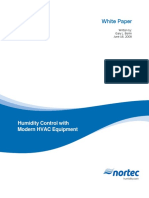 Humidity Control With Modern Hvac Equipement White Paper