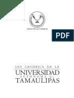 Ley Orgánica de La Universidad Autónoma de Tamaulipas