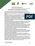 DEFINICIÓN DE MANTENIMIENTO PREVENTIVO