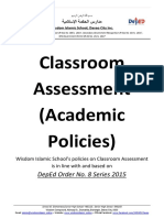 Academic Policies or Classroom Assessment (COVER)