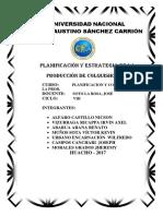 Planificacion y Estrategia de La Produccion Colquisiri Sa 1