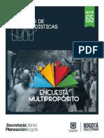 Resultados Encuesta Multiproposito 2014 BOGOTA