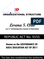 Deped Organizational Structure Updated