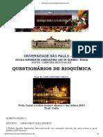 Questionario Bioquímica - Esalq USP