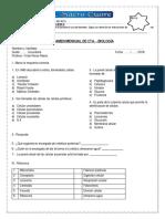 Examen Mensual de Biologia 1-2 Sec