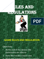 Game Rules and Regulation