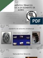 Tratamientos Térmicos Aplicados a Un Elemento de Acero 1018