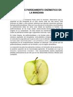 Control de Pardeamiento Enzimático en La Manzana