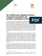Impacto del conflicto colombiano en Ecuador