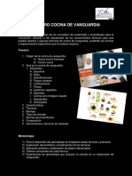 Temario Cocina de Vanguardia